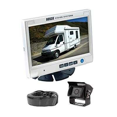 Rearview Backup Camera System Complete with 7-inch Color Monitor, Weather Proof Camera, 65-ft Harness.: Car Electronics