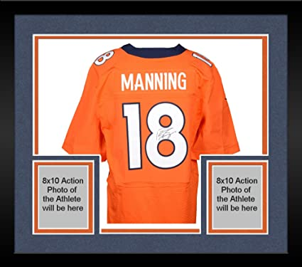 8fc2078f Framed Peyton Manning Denver Broncos Autographed Nike Elite Orange ...