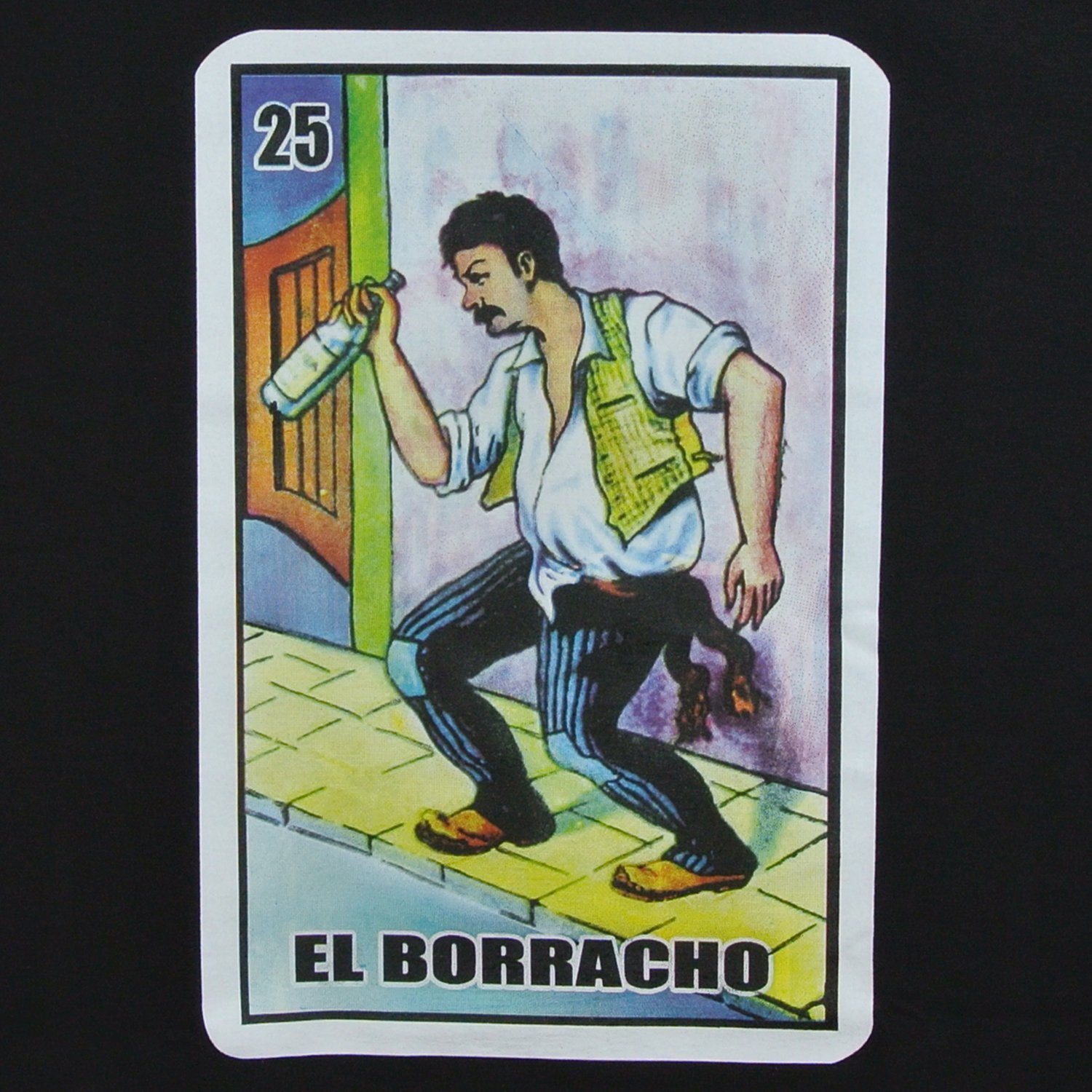 men s borracho loteria funny drinking shirt s amazon com mx ropa