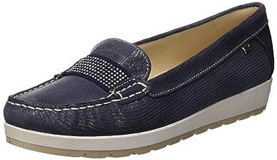 VALLEVERDE Scarpa, Mocasines (Loafer) para Mujer, Azul BLU 18ee, 36 EU: Amazon.es: Zapatos y complementos