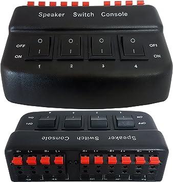 Caja de distribución separadora de audio de 4 puertos para altavoces con interruptor de 200W, 8 Ohm: Amazon.es: Electrónica