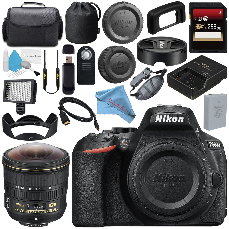 Nikon D5600 Cámara réflex Digital (Solo Cuerpo) (Negro) 1575 + 256 ...