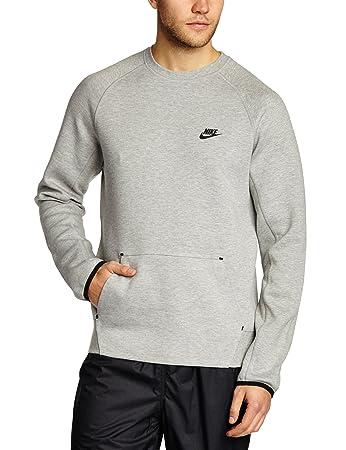 cd3446675 Nike Men's Tech Fleece Crew 1.0 Long Sleeve T-Shirt - Dk Grey Heather/
