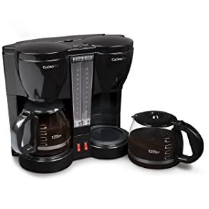 CucinaPro Double Coffee Brewer Station - Dual Coffee Maker Brews two 12-cup Pots, each with Individual Heating Elements