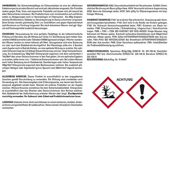 Steinbach 20 kg QUATTR otabs cloro pastillas por 200 g Mult itabs ...
