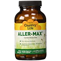 Country Life Aller-Max Non-Drowsy, Seasonal Support with Quercetin, NAC, Bromelain...