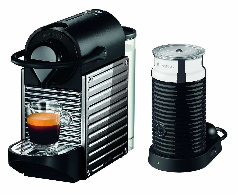 Krups XN301D Nespresso Pixie Bundle - Cafetera de acero inoxidable ...