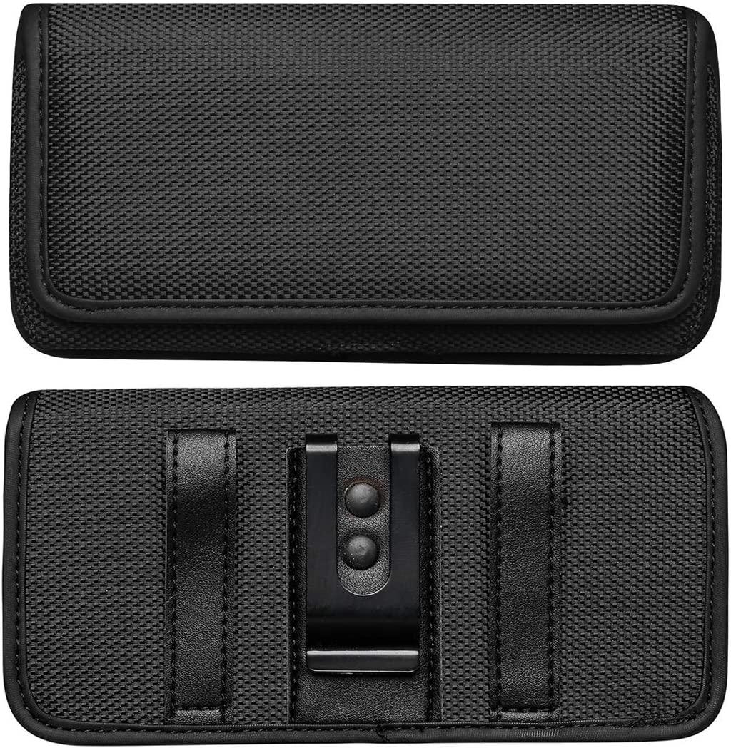 Viodolge iPhone 11 Pro/iPhone X/XS/XR Holster Case, Cell Phone Belt Case with Belt Clip Pouch Sleeve Belt Holder Cover for iPhone XR (Fits Phones with Otterbox Cases on)