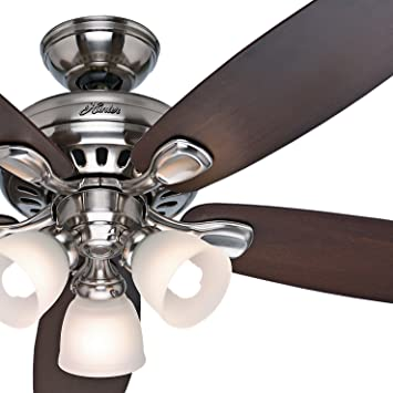 Hunter Fan 52 Brushed Nickel Ceiling Fan with Light Kit and Remote