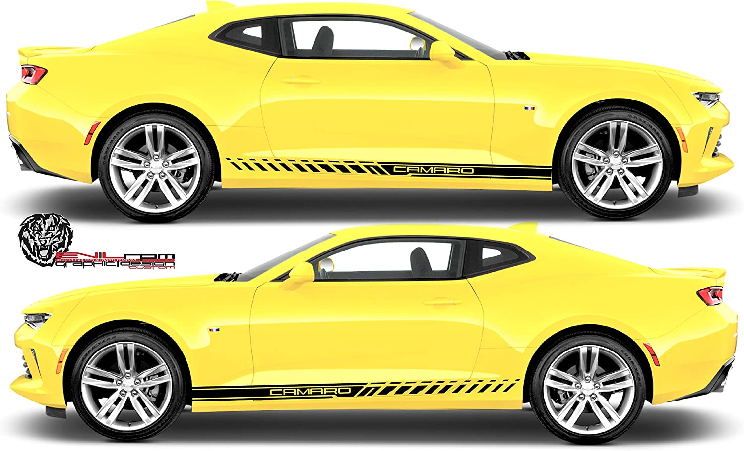 SS country Sticker Decal Racing Amercian camaro Chevrolet Pair