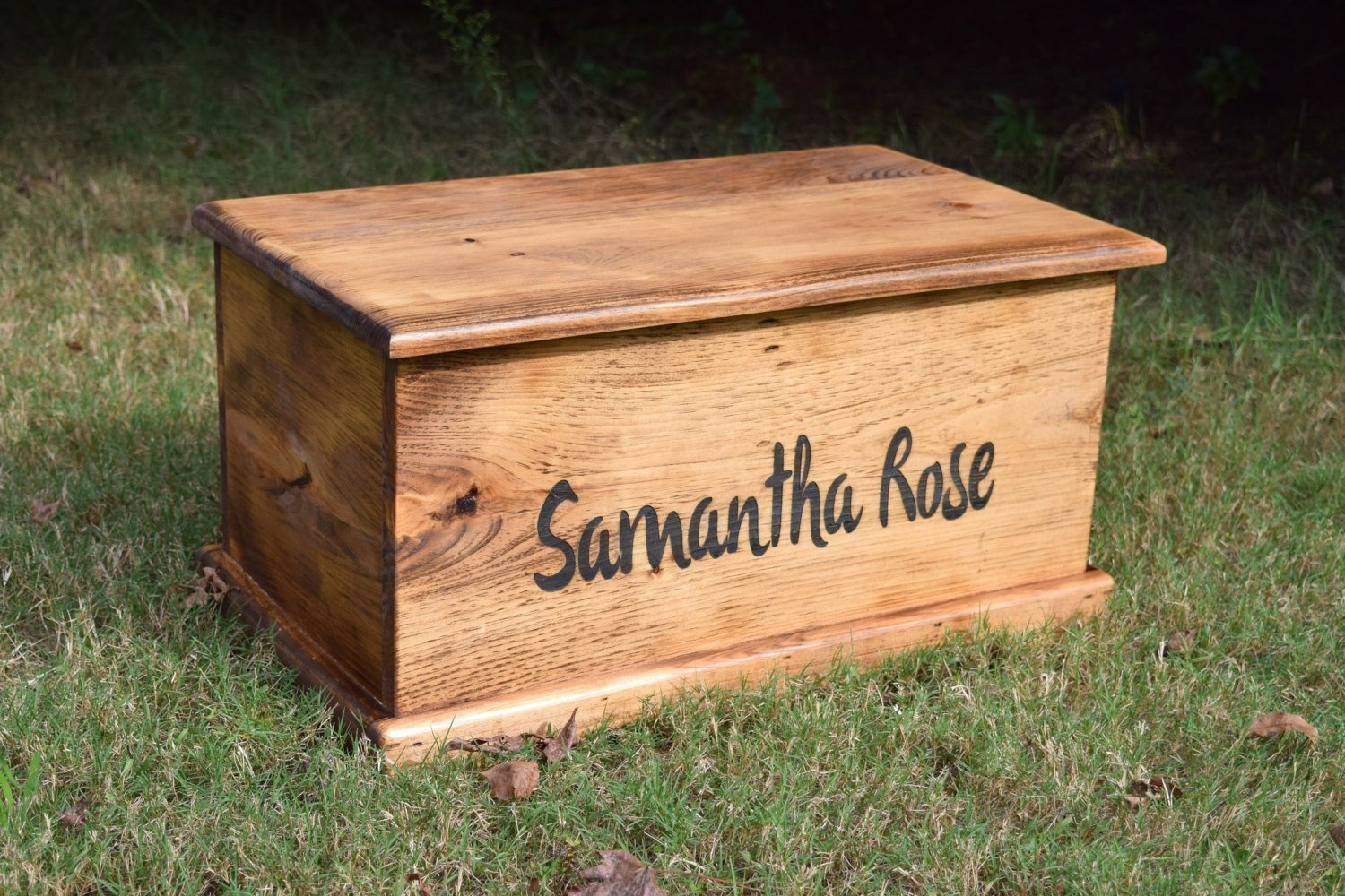Laser Engraved Personalized Kids Toy Box - Engraved Toy Box - Personalized Toy Box - Children's Toy Box - Kids Memory Box - Gift for Kids - Wood Toy Box - Treasure Chest by Country Barn Babe (Image #5)