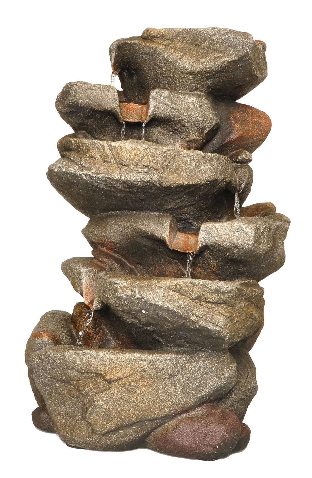 Zenvida Rock Waterfall Fountain, 19'' with LED Lights by Zenvida