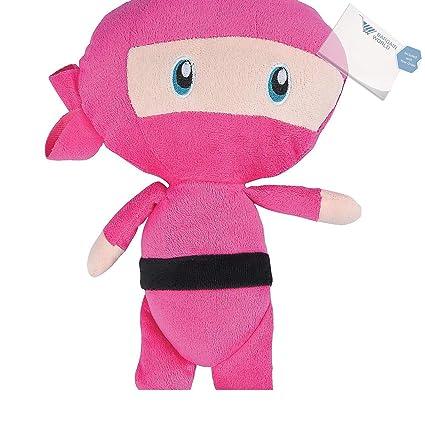 Amazon.com: Bargain World Pink Ninja Plush (With Sticky ...