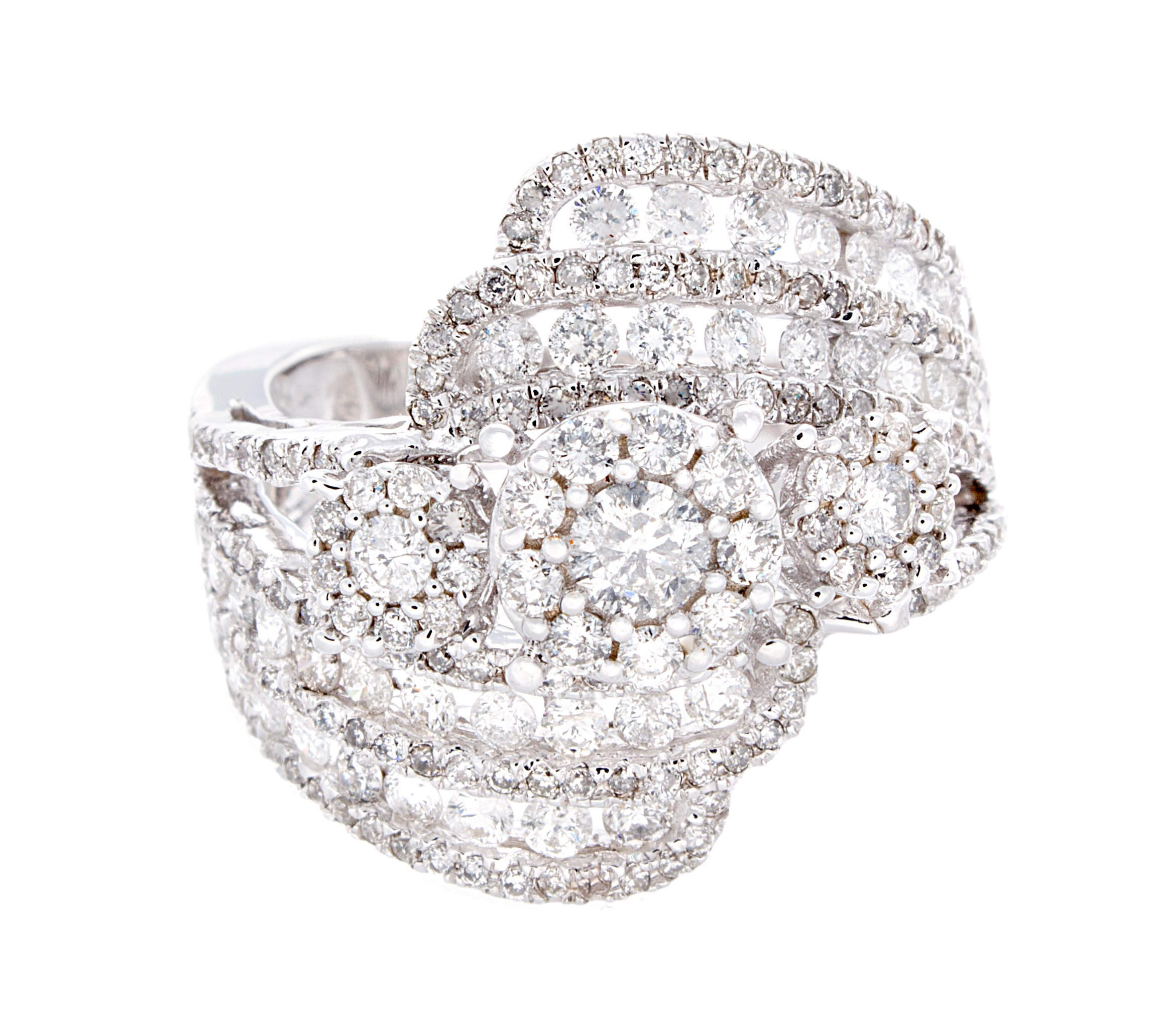 1.62ctw Excellent Cut Round Diamond (H-1 color, i1 - i2 clarity) in 14K Gold Fashion Ring