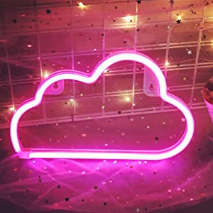Neon Sign,Cloud Light for Aesthetic Decor Cloud Neon Signs for Bedroom,Led Cloud Light for Home Décor,Girl Cave,Kid Room,Christmas,Party