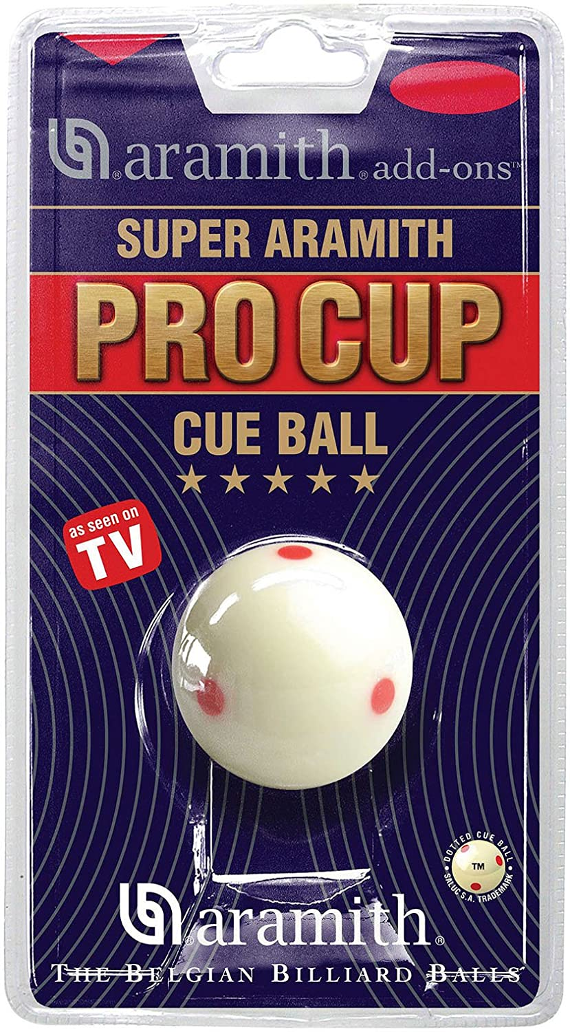Aramith Pro Cup TV Snooker Cue Ball 2-1/16? Size by Unknown