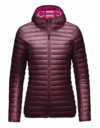 c567e26c12c Kjus Ladies Cypress Hooded Down Jacket - Rum   Bright Pink - 40 - Womens  fashionable down jacket  Amazon.co.uk  Clothing