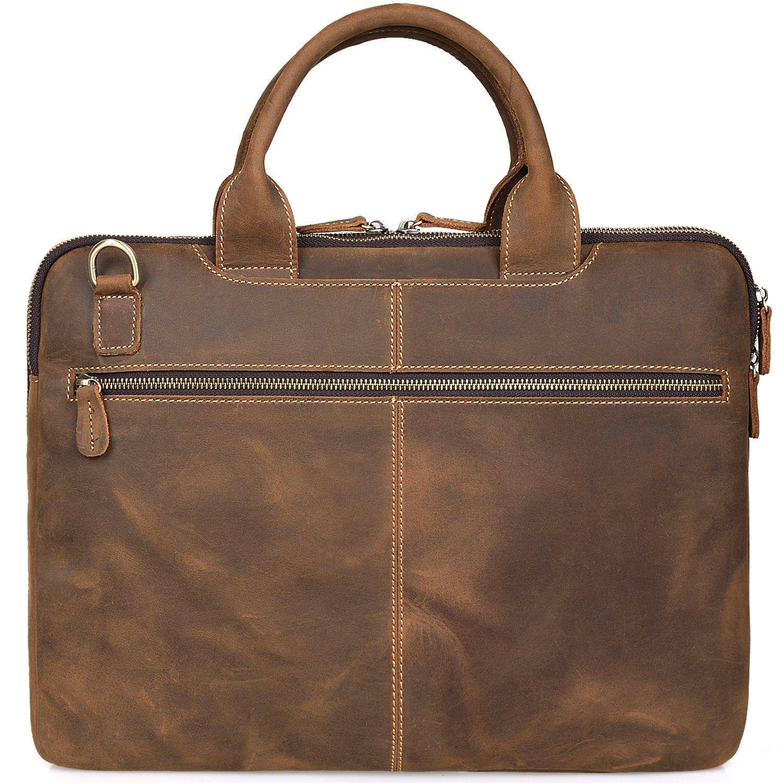 0ed77d28f45 Amazon.com  Jack Chris Men s Lawyer Briefcase Laptop Bag Leather Messenger  Bag (MB004B)  Computers   Accessories