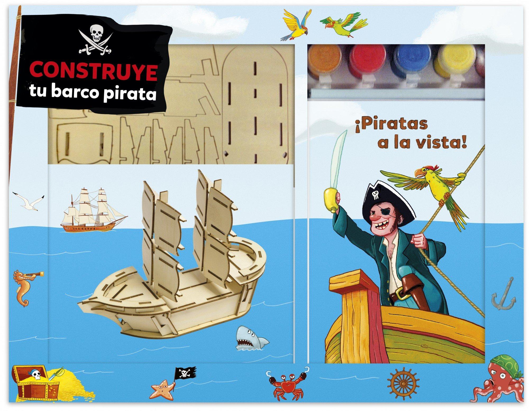 Construye tu barco pirata (Spanish) Paperback – 2013