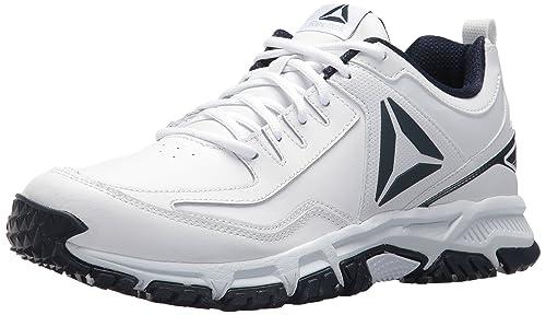 be42eef4235 Reebok Ridgerider Leather Sneaker White Coll. Navy 9 D(M) US  Amazon ...