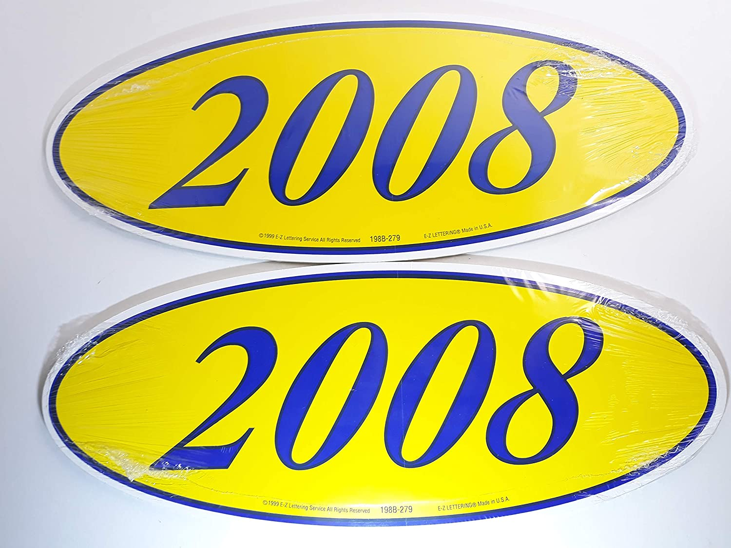 Great Link Oval Model Year Windshield Dealer 2 Dozen Stickers Blue /& Yellow Window Sticker B//Y 2010