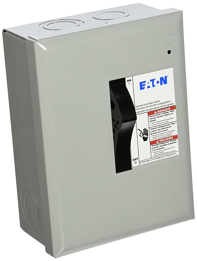 Eaton Corporation Dp221Ngb Indoor Safety Switch, 120/240V, 30-Amp ...
