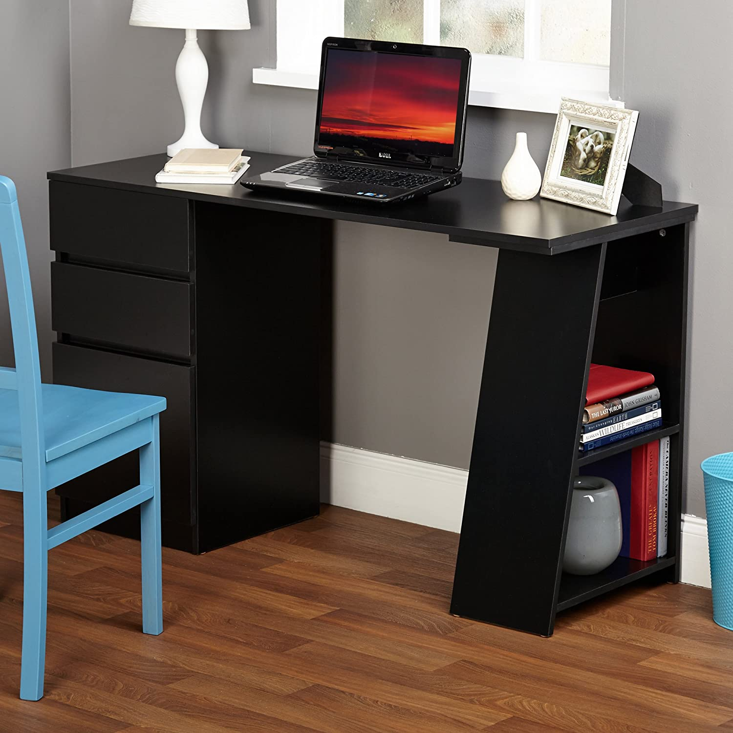 Target Marketing Systems Como Study Desk, Black