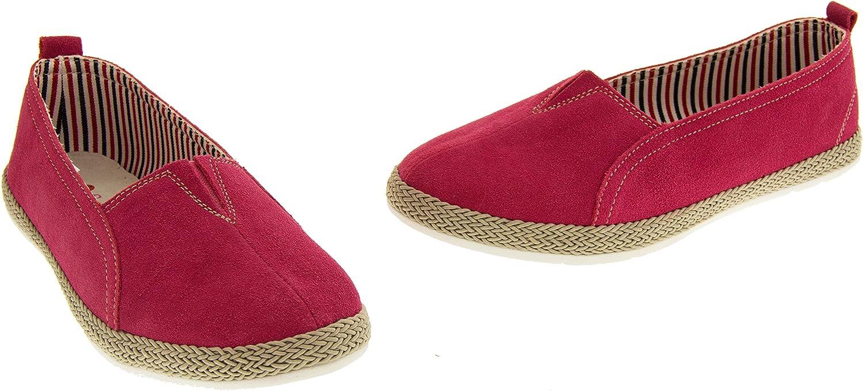 Coolers HD927 Mujer Cuero Gamuza Alpargatas Verano Casuales Zapatos