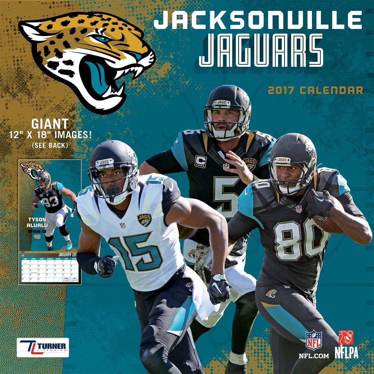 367b0405480 Amazon.com   Turner Licensing Sport 2017 Jacksonville Jaguars Team Wall  Calendar