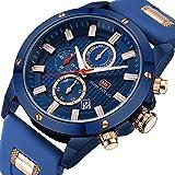 Men Business Watches Chronograph MINI FOCUS Fashion Waterproof Quartz Wrist Watch for Family Gift