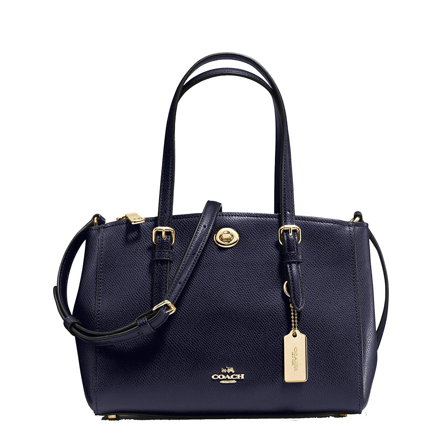 Coach Turnlock Carryall 26 in Crossgrain Leather Style No. 37937 (Navy)