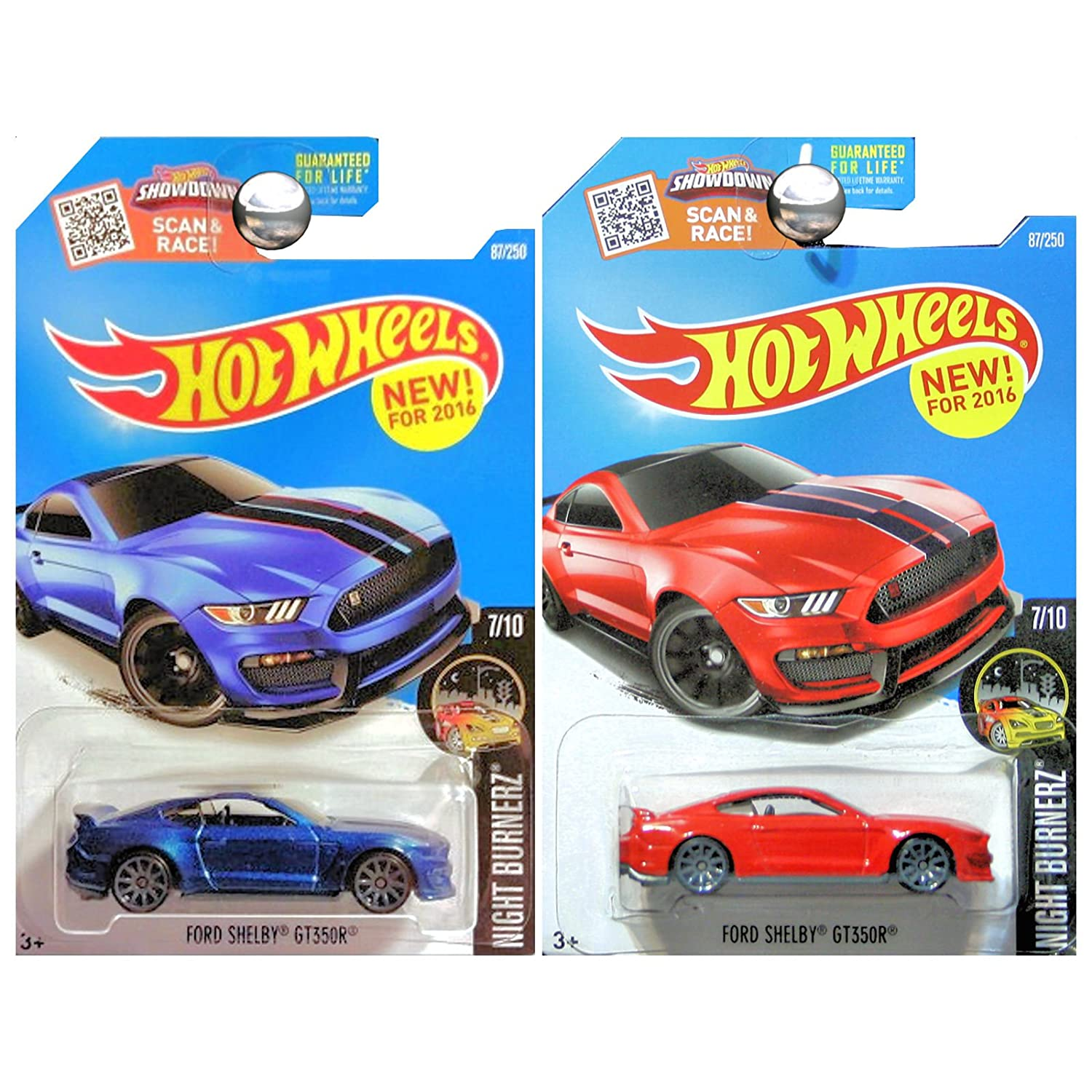 Amazon Com Hot Wheels 2016 Night Burnerz Ford Shelby Gt350r Mustang