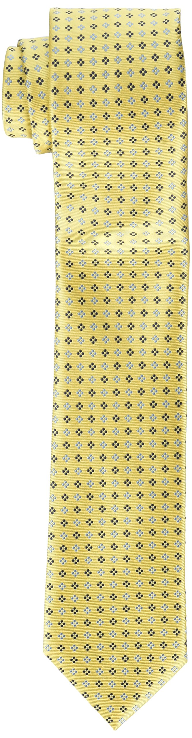 Tommy Hilfiger Men's Core Neat II Tie, Yellow, One Size