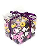 Liquorice Allsorts Gift Cube - Perfect Christmas, Father's Day or Birthday Gift - Finished with Purple Ribbon