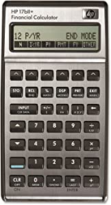 HP 17BIIPLUS 17bII+ Financial Calculator, 22-Digit LCD