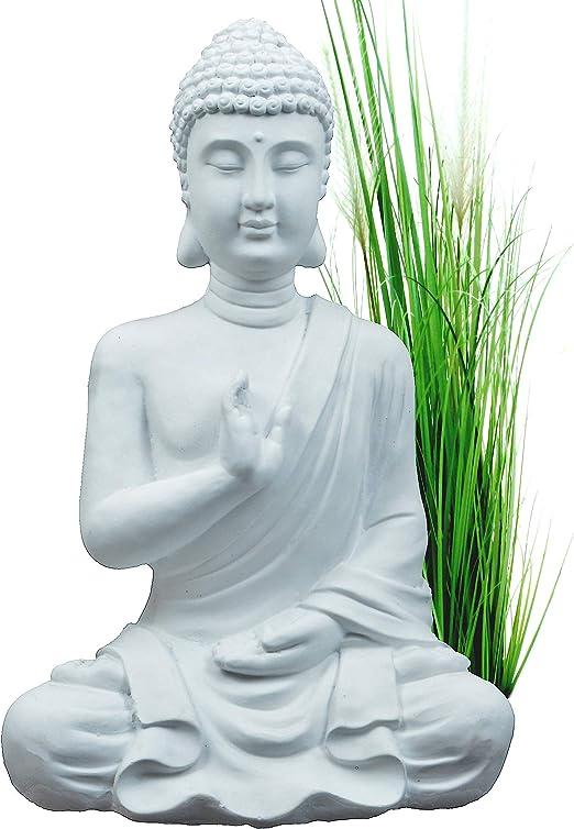 INtrenDU® Budas Decorativos Exterior, Buda Figura Decorativo, Statua Jardin, 54cm Bianchi, decorazione domestica: Amazon.es: Hogar