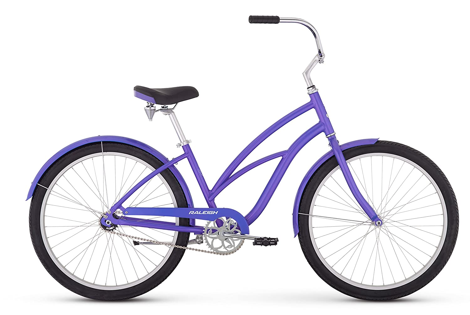 Raleigh Bikes Women s Retroglide Step Thru Cruiser Bike, 26 One Size, Purple