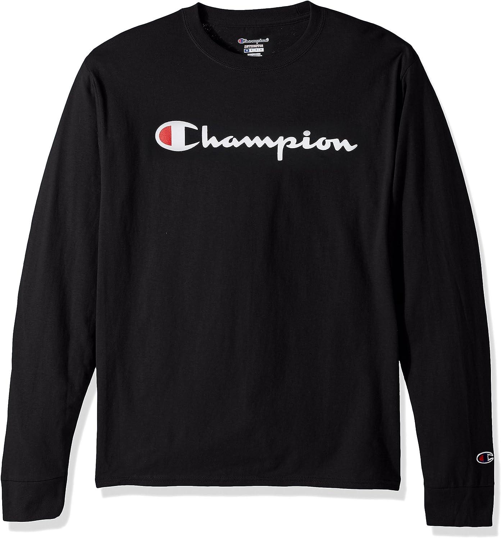 Champion LIFE Men's Cotton Long Sleeve Tee: Clothing