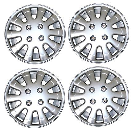 Amazon.com: TuningPros WSC3-303S15 4pcs Set Snap-On Type (Pop-On) 15-Inches Metallic Silver Hubcaps Wheel Cover: Automotive