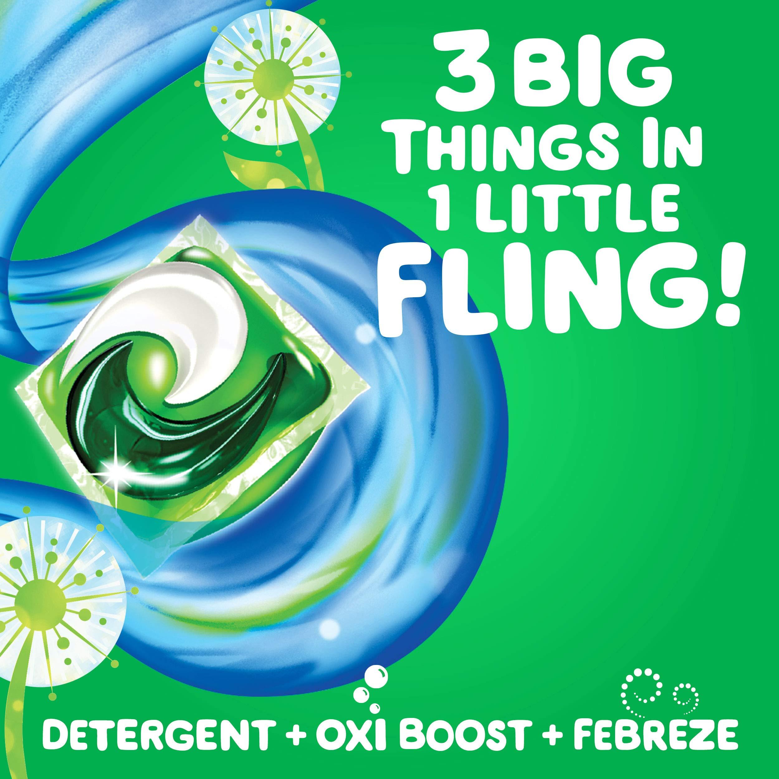 Gain flings! Liquid Laundry Detergent Pacs, Blissful Breeze, 96 Count by Gain (Image #9)