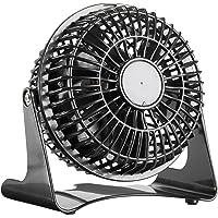 Sichler Haushaltsgeräte Kleiner Tischventilator: Kompakter Tisch-Ventilator VT-111.T, 14 Watt, Ø 11 cm (Ventilator klein)