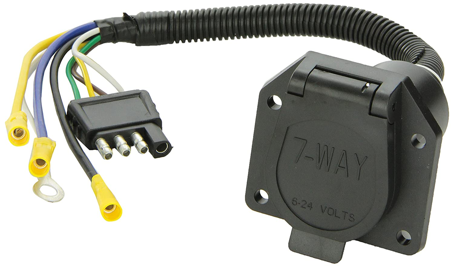 Amazon.com: Tow Ready 20321 4-Flat To 7-Way Flat Pin Connector Adapter:  Automotive
