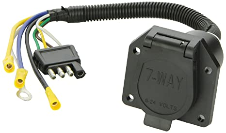 amazon com tow ready 20321 4 flat to 7 way flat pin connector rh amazon com Circuit Board Power Wire Harness Seperate Wire Harness Pins