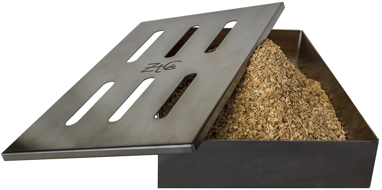 ZTC Bastoncini Box | con ricetta | | Acciaio Inox | durevole | accessorio per barbecue/grill | Gas Grill | Carbone Barbecue | speciali fumo Note | Grande Volume | Smoker Box | Istruzioni | Uomini Regalo ZT-Company
