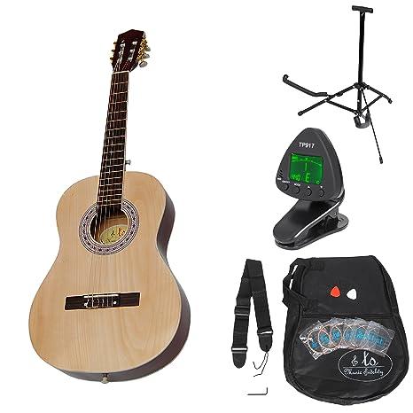 Guitarra clásica para niños completa con accesorios. Calidad ...