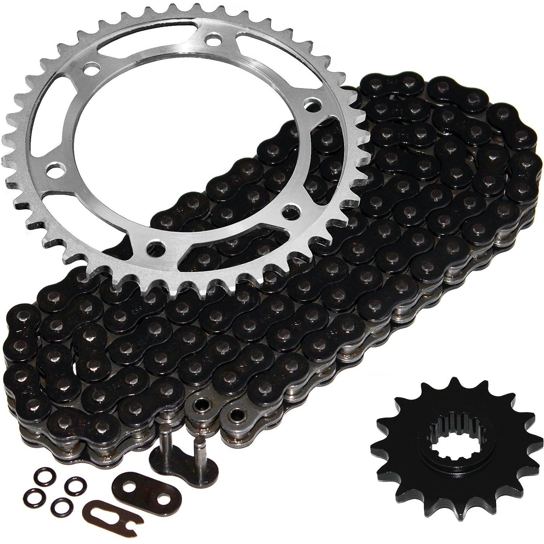 Caltric Black O-Ring Drive Chain /& Sprockets Kit Fits HONDA 600RR CBR600RR CBR600 RR 2007-2014