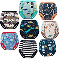 MooMoo Baby 8 Packs Potty Training Underwear Cotton Absorbent Training Pants for Toddler Baby 2-6T