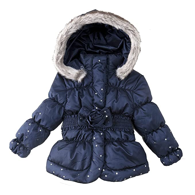 Chicco Chaqueta con capucha para niña, talla 2 ans - talla francesa, color Azul: Amazon.es: Ropa y accesorios