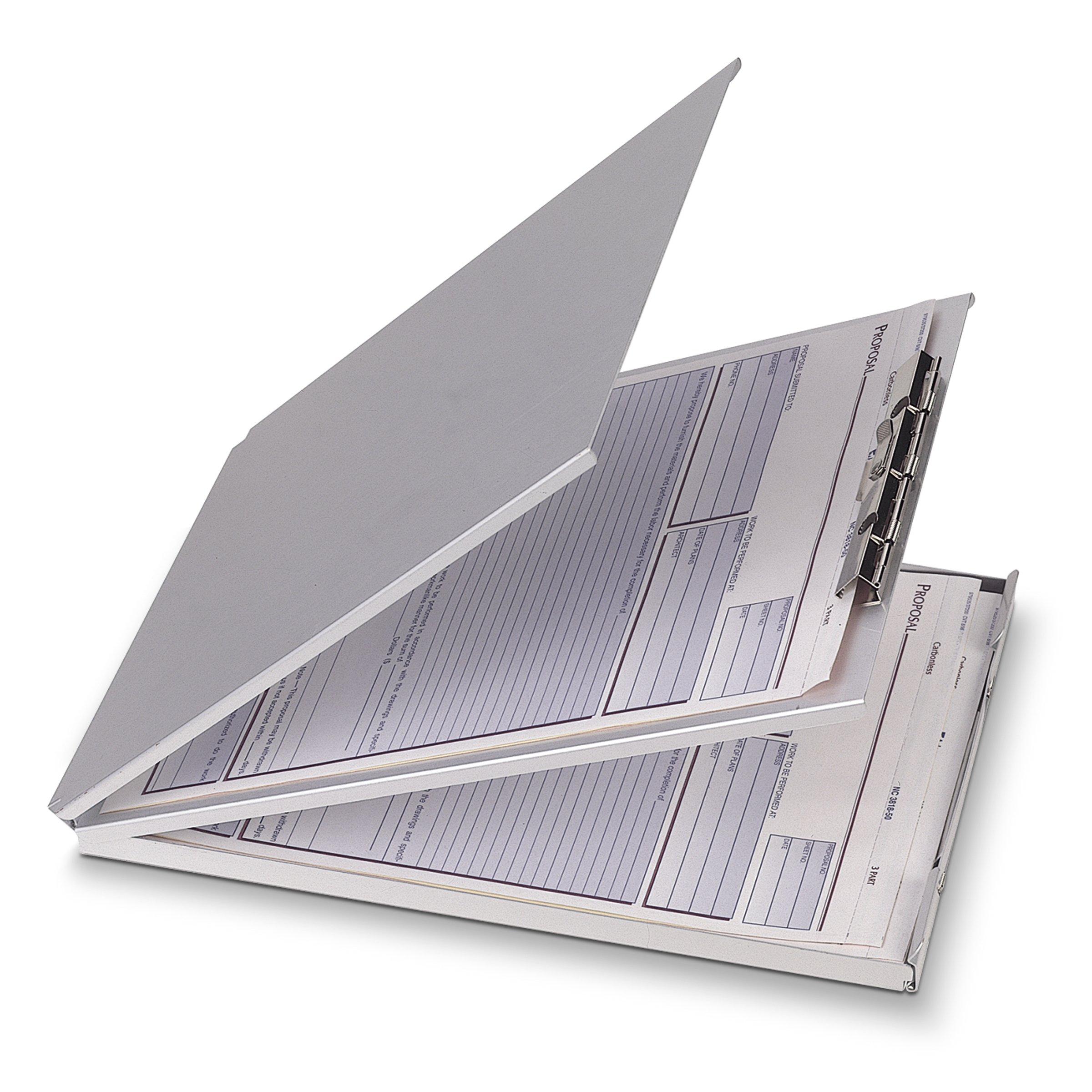 Officemate Top Loading Aluminum Form Holder For Files 5 2/3 x 9 1/2 Inches, 30 Page Capacity, Silver (83205)