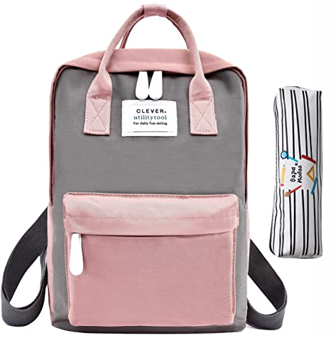 Amazon.com: Backpack School Backpack Girls Waterproof Bag College Vintage Travel Bag for Women 13 inch Laptop for Student with Pencil Box(Make Up Bag): ...